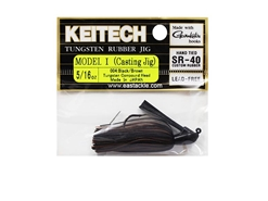 Keitech - Tungsten Rubber Jig - MODEL I - BLACK BROWN 004 (5/16oz) - Skirted Jig Heads | Eastackle