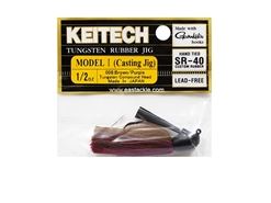 Keitech - Tungsten Rubber Jig - MODEL I - BROW PURPLE 008 (1/2oz) - Skirted Jig Heads | Eastackle