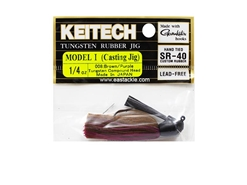 Keitech - Tungsten Rubber Jig - MODEL I - BROW PURPLE 008 (1/4oz) - Skirted Jig Heads | Eastackle