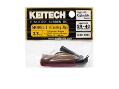 Keitech - Tungsten Rubber Jig - MODEL I - BROW PURPLE 008 (3/8oz) - Skirted Jig Heads | Eastackle