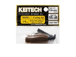 Keitech - Tungsten Rubber Jig - MODEL I - DARK GREEN PUMPKIN PP 105 (1/4oz) - Skirted Jig Heads | Eastackle