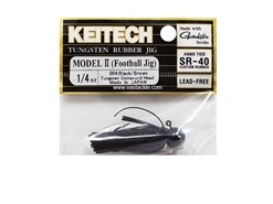 Keitech - Tungsten Rubber Jig - MODEL II - BLACK BROWN 004 (1/4oz) - Skirted Jig Head | Eastackle