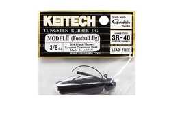 Keitech - Tungsten Rubber Jig - MODEL II - BLACK BROWN 004 (3/8oz) - Skirted Jig Head | Eastackle