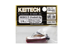 Keitech - Tungsten Rubber Jig - MODEL II - BROWN PURPLE 008 (1/4oz) - Skirted Jig Head | Eastackle