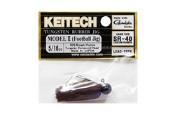 Keitech - Tungsten Rubber Jig - MODEL II - BROWN PURPLE 008 (5/16oz) - Skirted Jig Head | Eastackle