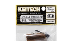 Keitech - Tungsten Rubber Jig - MODEL II - DARK GREEN PUMPKIN PP 105 (5/16oz) - Skirted Jig Head | Eastackle