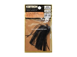 Keitech - Tungsten Rubber Jig - MODEL III - BLACK 001 (1/2oz) - Skirted Jig Heads | Eastackle