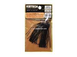 Keitech - Tungsten Rubber Jig - MODEL III - BLACK 001 (1/4oz) - Skirted Jig Heads | Eastackle