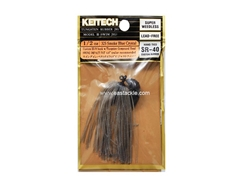 Keitech - Tungsten Rubber Jig - MODEL III - SMOKE BLUE CRYSTAL 325 (1/2oz) - Skirted Jig Heads | Eastackle