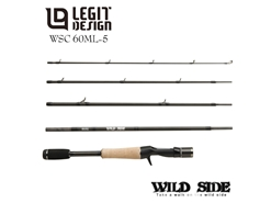 Legit Design - Wild Side WSC60ML-5 - Travel Bait Casting Rod | Eastackle