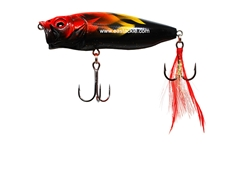 Megabass - 2018 PopMax - ILLUSION RED FLAME - Floating Popper | Eastackle
