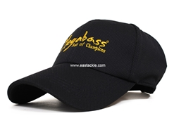 Megabass - Field Cap - BLACK WITH GOLD BRUSH LOGO