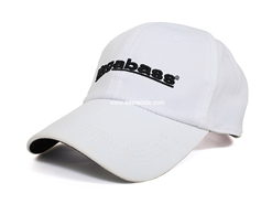 Megabass - Field Cap - WHITE WITH BLACK LOGO