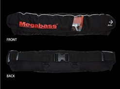 Megabass - Life Saver (Waist-Type) - BLACK - Floatation Device | Eastackle