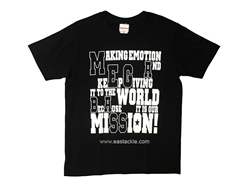 Megabass - MESSAGE T-Shirt (L) BLACK