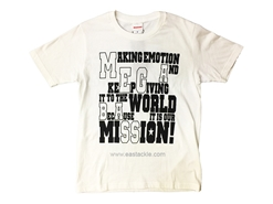 Megabass - MESSAGE T-Shirt (S) WHITE