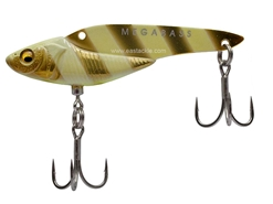 Megabass - Metal Edge 16g - M GOLD GLOW STRIPE - Sinking Lipless Crankbait | Eastackle