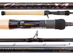 Megabass - Orochi X4 - F3-68X4 - RATTLEVIPER-TECHNICAL GAME - Bait Casting Rod | Eastackle