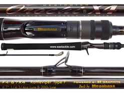 Megabass - Orochi X4 - F4-67X4 - RATTLEVIPER TYPE-F - Bait Casting Rod | Eastackle