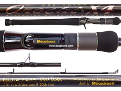 Megabass - Orochi X4 - F4.1/2-70X4 - BLACK ELSEIL - Bait Casting Rod | Estackle