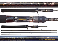 Megabass - Orochi X4 Secret Service - F4-66X4-SS - CYCLONE BACKPACKER - 4 Piece Travel Bait Casting Rod | Eastackle