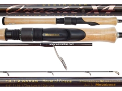 Megabass - Orochi X4 Spinning - F3.1/2-66X4S - HOUSE OF FINESSE - Spinning Rod | Eastackle