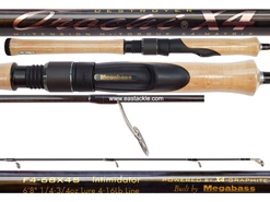 Megabass - Orochi X4 Spinning - F4-68X4S - INTIMIDATOR - Spinning Rod | Eastackle