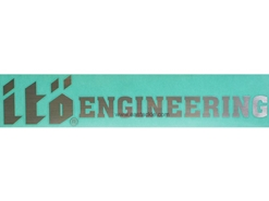 Eastackle - Megabass - Sticker - ITO ENGINEERING - Silver - 30cm