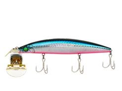 Deep bass fishing lure. GG Blue Pink Megabass Zonk 120 Gataride Yoro-Yoro