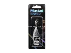 Mustad - Big Eye Bucktail Jig Head - 3/8oz - BLACK SILVER | Eastackle