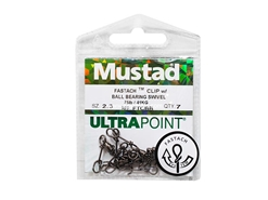 Mustad - Fastach Clip With Ball Bearing Swivel - 2.3 | Eastackle