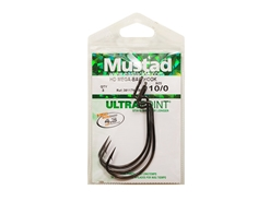 Mustad - HD Mega-Bait Hook - 38117NP-BN - #10/0 - Offset Worm Hook | Eastackle