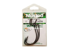 Mustad - HD Mega-Bait Hook - 38117NP-BN - #12/0 - Offset Worm Hook | Eastackle