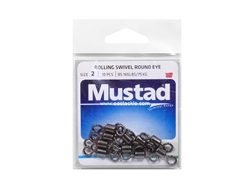 Mustad - Rolling Swivel Round Eye - #2 | Eastackle