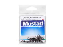 Mustad - Rolling Swivel Round Eye - #6 | Eastackle