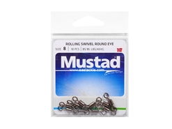 Mustad - Rolling Swivel Round Eye - #8 | Eastackle