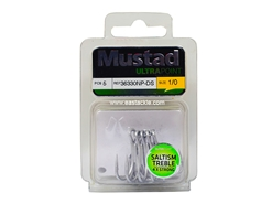 Mustad - Saltism 4X Strong #1/0 - Treble Hook | Eastackle