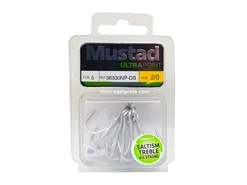 Mustad - Saltism 4X Strong #2/0 - Treble Hook | Eastackle