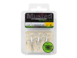 Mustad - Saltism 4X Strong #4 - Treble Hook | Eastackle
