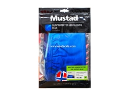 Mustad - Sunprotector Leg Sleeves - SIZE M - TOURNAMENT BLUE | Eastackle