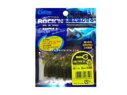 "Owner - Cultiva Rockn' Bait - Ring Twin Tail - RB-1 - 1.5"" - WATER MELON - Soft Plastic Swim Bait 