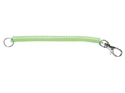 Paz Design - COLOUR COIL CORD LANYARD - GREEN