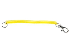 Paz Design - COLOUR COIL CORD LANYARD - YELLOW