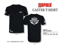 Rapala - CASTER Series T-Shirt - BLACK - XXL | Eastackle