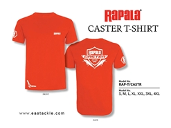 Rapala - CASTER Series T-Shirt - RED - 3XL | Eastackle