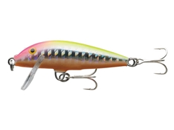 Rapala - Countdown Abachi CDA05 - HOLOGRAM PINK HEAD CHARTREUSE - Sinking Minnow | Eastackle