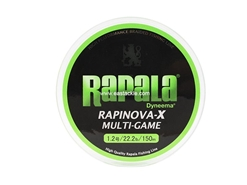 Rapala - Rapinova-X Multi-Game - 22.2lbs - 150m - Braided PE Fishing Line | Eastackle
