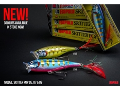 Rapala - Skitter Pop SP09 - STRIPED GREY SHINER - Topwater Popper | Eastackle