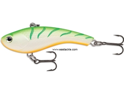 Rapala - Slab Rap SLR04 - GREEN TIGER UV - Sinking Lipless Crankbait | Eastackle