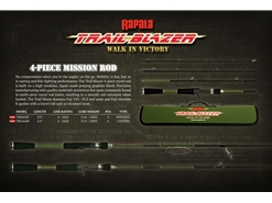 Rapala - Trail Blazer - TBS664M - 4 Piece Travel Spinning Rod | Eastackle
